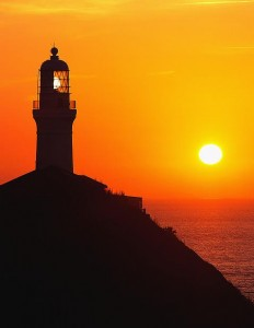 Omae-Zaki Light House at Sunrise